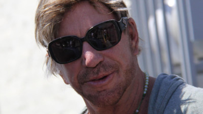 Mickey Rourke dans les rues de Los Angeles en juillet 2015