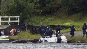 Tuerie sur l'île d'Utoeya en Norvège le 22 juillet 2011.