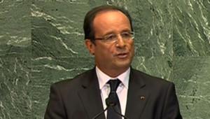 François Hollande devant l'ONU le 25 septembre 2012