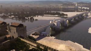 Le 20 heures du 13 décembre 2014 : Le pont d%u2019Avignon reconstitu�n 3D - 1599.3122930297852