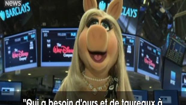 """Ce lundi, c'est Peggy du """"Muppet Show"""" qui ouvre la séance à Wall Street"""