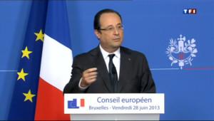 """Le 20 heures du 28 juin 2013 : Pour Hollande, la zone euro doit avoir une """"dimension sociale"""" - 967.058"""