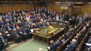 Le parlement britannique réuni en session extraordinaire le 11 août 2011.