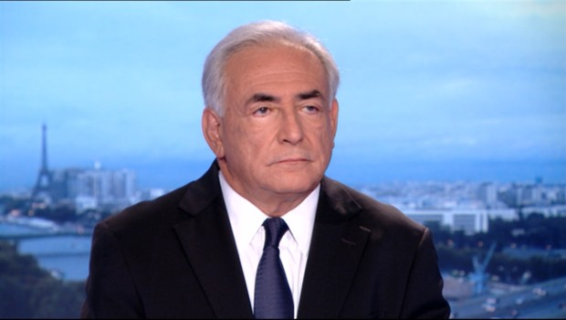 Dominique Strauss-Kahn est l&#039;invit du journal tlvis de Claire Chazal,  20 heures sur TF1 le 18 septembre 2011