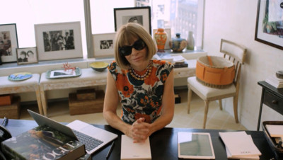 Anna Wintour dans son bureau à New York