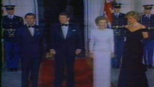 Charles et Diana aux Etats-Unis en 1985.