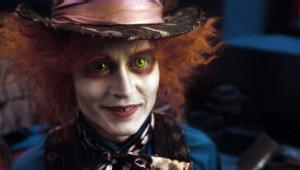 Johnny Depp dans Alice aux pays des merveilles