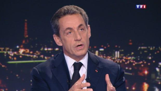 Nicolas Sarkozy sur TF1, le 17 mars 2015.