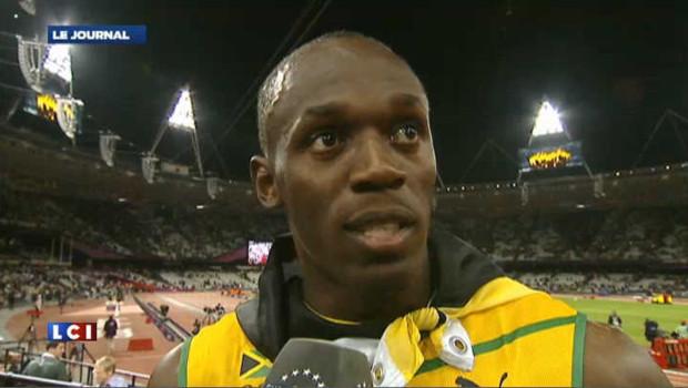 Bolt médaillé d'or du 100 m
