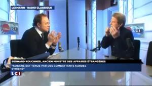 """De retour de Kobané, Kouchner évoque """"les Daesh, ces bouchers de l'Islam"""""""
