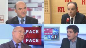 Jean-François Copé, Pierre Moscovici, Michel Sapin et Benoist Apparu.