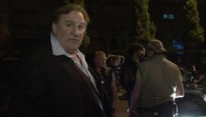 Gérard Depardieu en tournage à Grozny, en Tchétchénie, le 3 juin 2013.