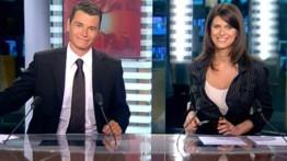 TF1-LCI : Sébastien Borgnat et Magali Lunel présentateurs du JT de LCI