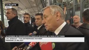 Jean-Marc Ayrault, le 29 novembre 2013, à la Villette.