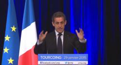 Le 13 heures du 29 janvier 2015 : Nicolas Sarkozy à Tourcoing prépare les élections départementales - 917.9044854736327
