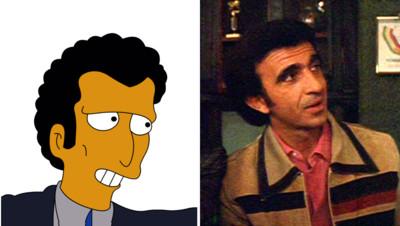 Photomontage Louie des Simpsons et Frank Sivero
