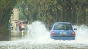 Des pluies lors d'un orage (Illustration)