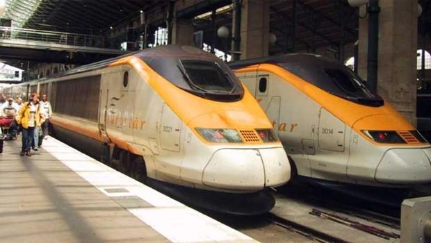 eurostar train paris gare eurotunnel manche