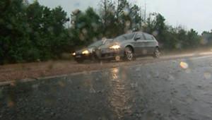 orages pluies voitures