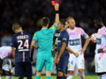 Yohan Cabaye exclu lors de Evian-TG-PSG pour deux avertissements, le 22 août 2014 à Annecy.