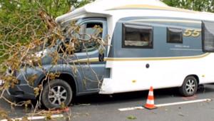 La chute d'un arbre a tué la passagère d'un camping-car à Bozouls dans l'Aveyron