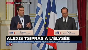 """Sommet France-Grèce : """"Nous ne sommes pas une menace pour l'Europe"""" affirme Tsipras"""