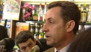 TF1/LCI : Nicolas Sarkozy dans un bar-tabac de Lozère