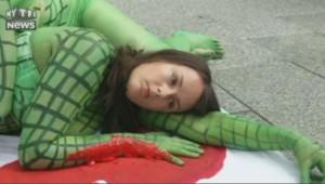 Tokyo Hermès activistes crocodile jane birkin