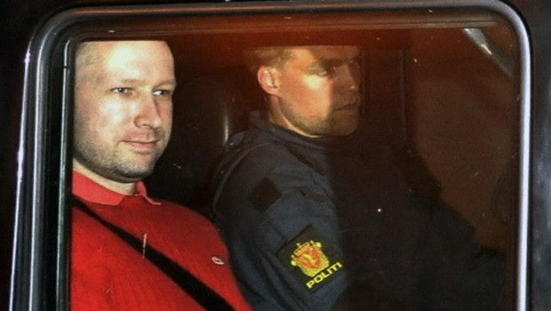 Behring Breivik, le 25 juillet 2011 (capture d&#039;une image prise par un mdia norvgien)