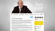 Capture écran du blog d'Alain Juppé.