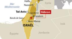Carte de localisation de Hébron, en Cisjordanie