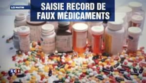 Démantèlement d'un trafic international de faux médicaments