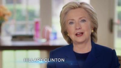 Hillary Clinton dans un spot télévisé diffusé début août 2015