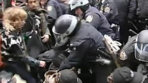 New York : manifestation du mouvement Occupy Wall Street, 17/11/11