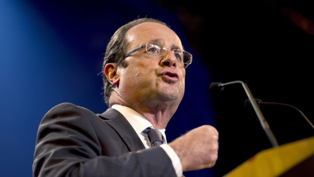 François Hollande en meeting à Lorient (23 avril 2012)