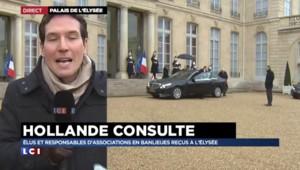 Ecole, banlieues, associations: Hollande consulte tous azimuts