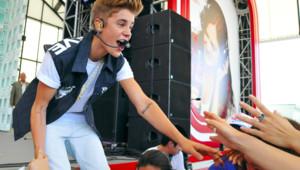 Justin Bieber lors d'un concert à Tokyo en juillet 2012