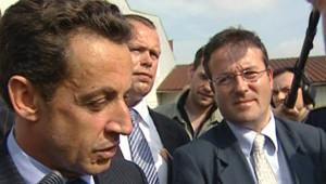 Nicolas Sarkozy et Martin Hirsch (août 2008)