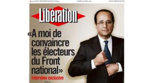 François Hollande en Une de Libération (24 avril 2012)