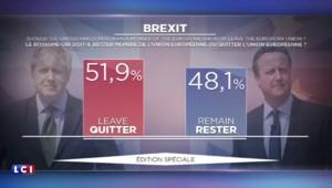Le Brexit l'emporte : le résultat officiel