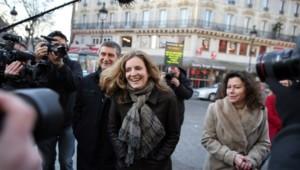 C'était la première sortie de Nathalie Kosciusko-Morizet en compagnie de l'ancien directeur général de la Police nationale, Frédéric Péchenard, candidat UMP dans le XVIIe.