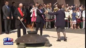 François Hollande dans le souvenir de l'appel du 18 juin au Mont-Valérien