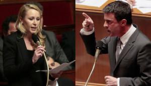 Marion Maréchal-Le Pen et Manuel Valls