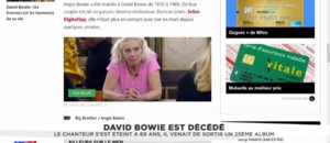 Enfermée dans Big Brother, l'ex-femme de David Bowie ignore sa mort