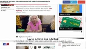 Enfermée dans Big Brother, l'ex-femme de David Bowie ignore sa mort