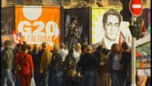 Nice, le 1er novembre 2011, manifestation d'anti-mondialistes avant le sommet du G20 à Cannes.