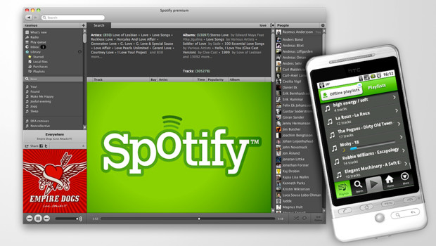 Spotify est partout : PC, MAC, portables...