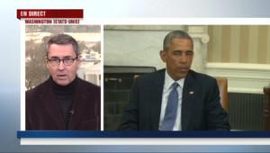 Le 20 heures du 7 janvier 2015 : Charlie Hebdo : Barack Obama réaffirme son soutien à la France. - 3925.865