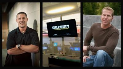 Glen Schofield (G) et Michael Condrey (D), les co-fondateurs de Sledgehammer Gammes en charge de Call of Duty Advanced Warfare