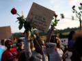 Manifestation à Ferguson en hommage à Michael Brown, 18/8/2014